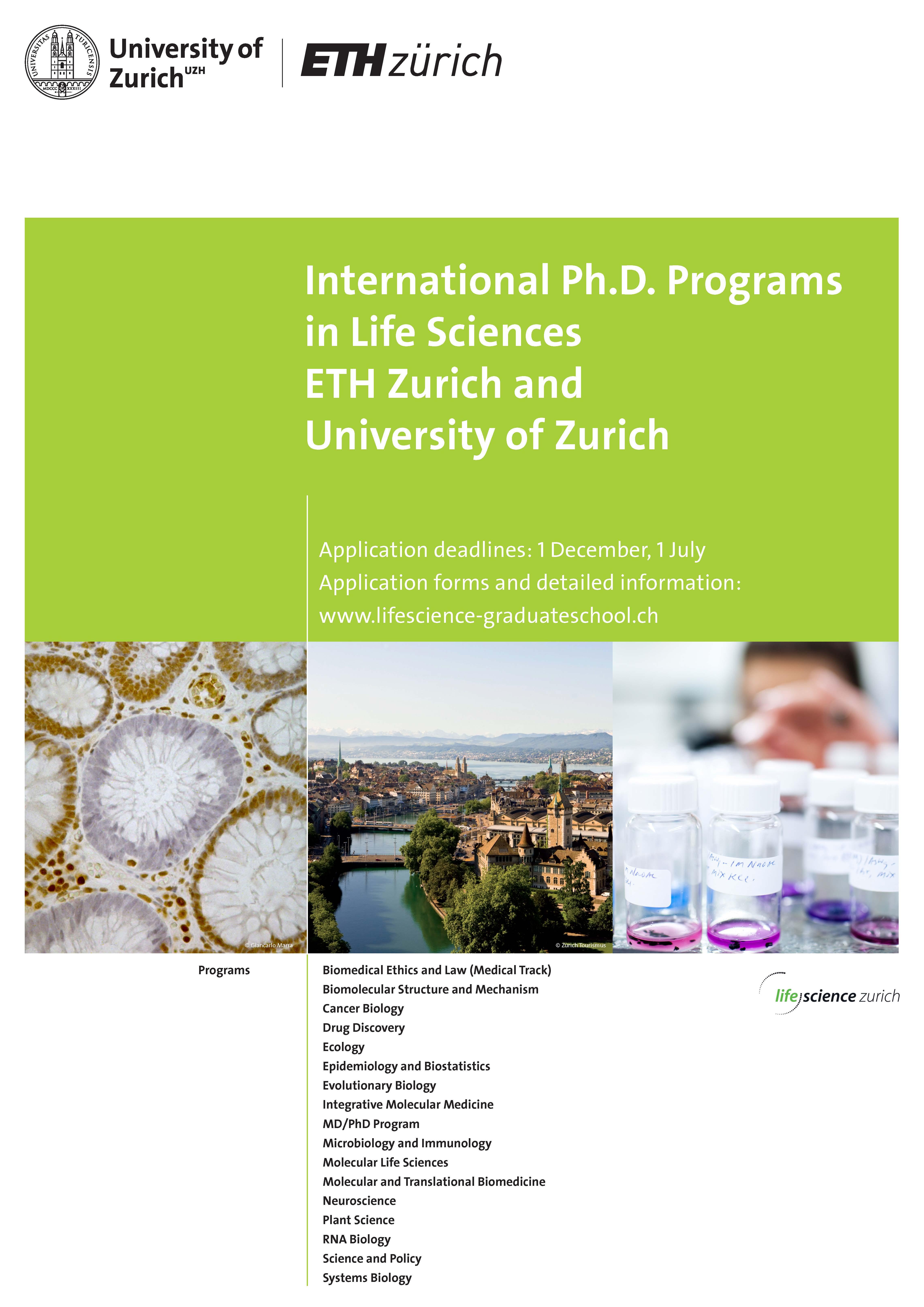 UZH Life Science Zurich Graduate School About LSZGS